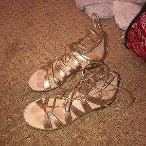 Gold Lily Pulitzer sandals